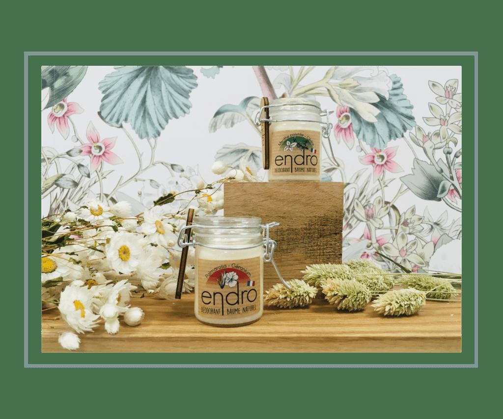 Déodorants Palmarosa géranium menthe poivrée cèdre Endro à Paris