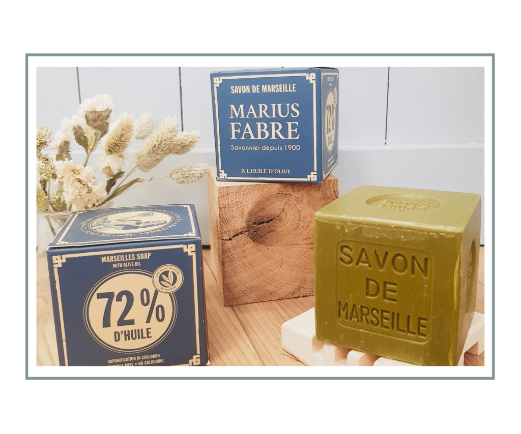 Savon de Marseille carré à Paris