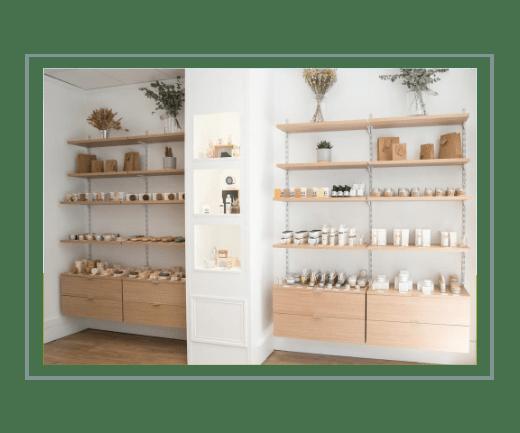 Boutique de cosmétiques naturels à Paris