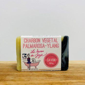 Les Savons de Joya Charbon Végétal Palmarosa Ylang